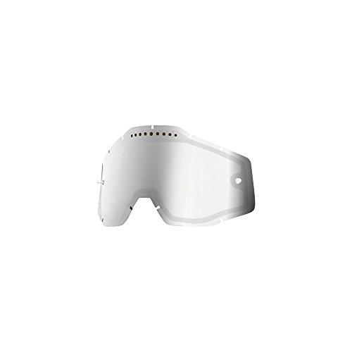 100% Unisex-Adult Speedlab (51006-008-02) RACECRAFT/ACCURI/STRATA Vented Dual Pane Lens Anti-Fog-Silver Mirror/Smoke, Free Size)