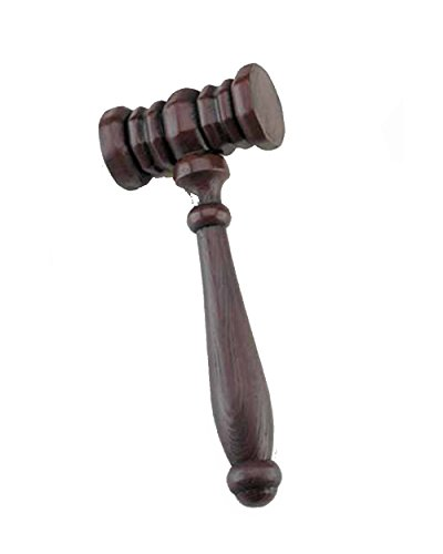 10363 (10 Inch Judges Gavel Plastic (Judge Robes Costume)