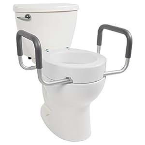 Amazon Com Toilet Seat Riser By Vive Elongated Raised