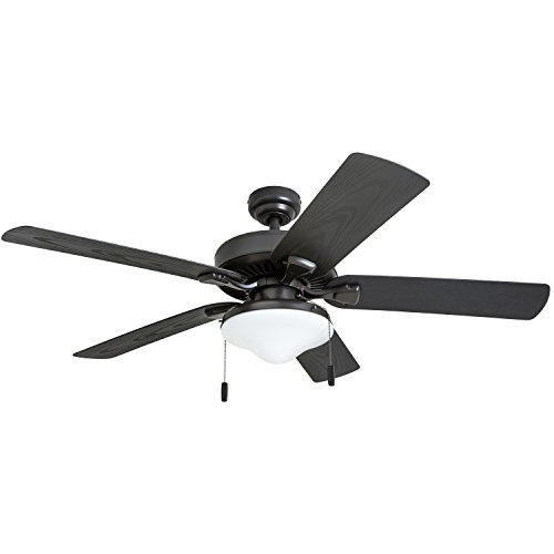 (Honeywell Belmar Outdoor LED Ceiling Fan with LED Light, Waterproof, Damp-Rated, 52