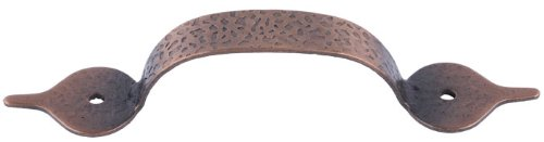 (Hammered Antique Cooper Drawer Pull Handle Centers: 3
