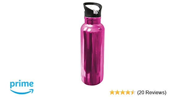 70476dd72a GHP 167076 Wellness Vacuum Insulated Stainless Steel Sports Bottle, 25 oz, Electroplated  Pink