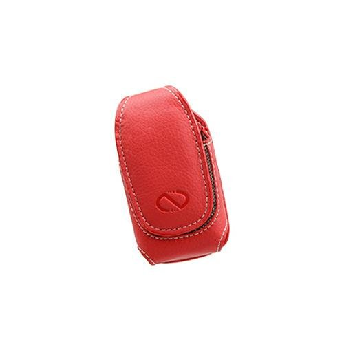 Ultima Red Leather Magnetic Case for Alcatel Go Flip.