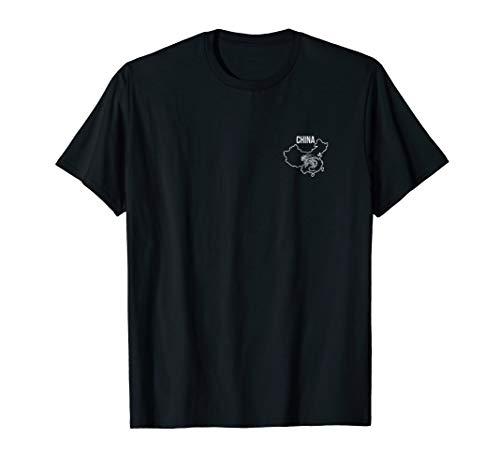 (China Dragon National Animal Map Logo Style T Shirt)
