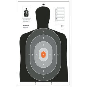 B-27PROS-CB CARDBOARD TARGET 50 PACK by Law Enforcement Targets