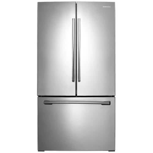 Samsung RF261BEAESR 25 5 Cu  Ft  Stainless Steel French Door Refrigerator -  Energy Star