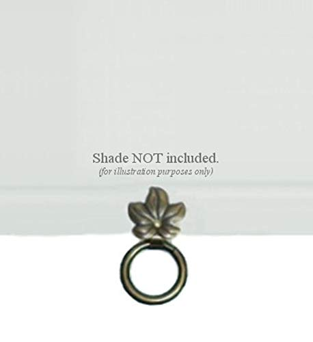 Ring Shade Pulls - ALURA Roller Window Shade SNAP-ON Metal Ring Pull - Small with Bronze Finish - NO Tools Required!