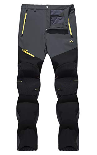 TACVASEN Women's Pants Outdoor Windproof Snow Ski Snowboard Hiking Fleece Lined Pants Warm
