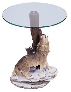 Amazoncom 26H Wolf Theme Coffee Table Kitchen Dining