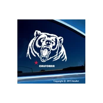 Amazon Com Amiart California Ca Grizzly Bear Decal