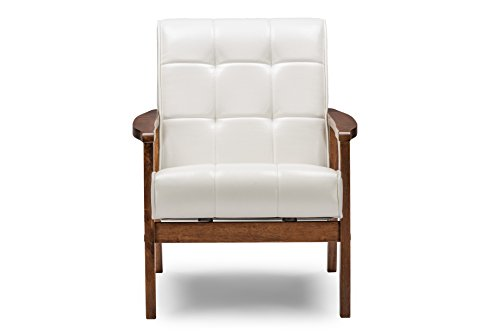 Baxton Studio Mid-Century Masterpieces Club Chair, White