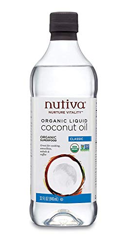 Nutiva Organic, Unrefined, Liquid Coconut Oil, 32-ounce