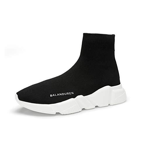 Negro Botas Deportivas Primavera Negras Mujer Otoño Y De Altas Yan Zapatos Zapatillas Punto Elásticos Tobillo ZqWxAn6P
