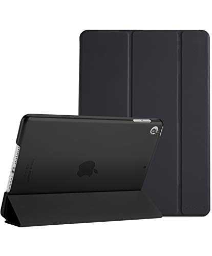 ProCase iPad Mini 5 2019 Case 5th Generation iPad Mini, Slim Lightweight Stand Protective Case Translucent Frosted Shell Smart Cover for 2019 Apple iPad Mini 5 7.9 Inch -Black