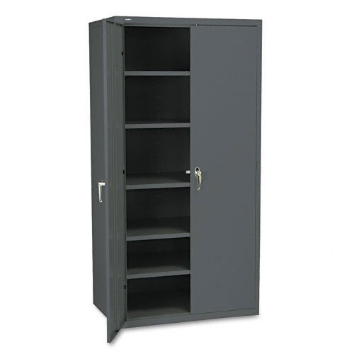 HON : Assembled High Storage Cabinet, 5 Adjustable Shelves, 36 x 24 x 72, Charcoal -:- Sold as 2 Packs of - 1 - / - Total of 2 Each (Storage 36x24x72 Charcoal Cabinet)