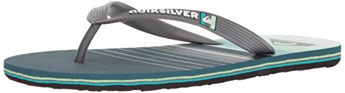 Flip Flop 14 Pin - Quiksilver Men's Molokai SWELL Vision Sandal, Black/Grey/Green, 14(47) M US