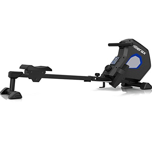 (Merax Magnetic Exercise Rower Adjustable Resistance Rowing Machine (BK))