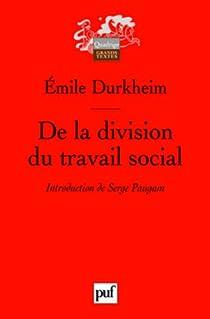 De la division du travail social par Durkheim