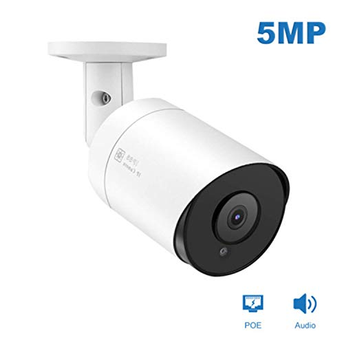 5MP Bullet IP POE Camera,Anpvees Super HD IR Wide Angle 3.6mm Lens One-Way Audio IP 2592x1944P Security Camera,Hikvision Compatible& Onvif Camera,H.265/H.264 IP66 Outdoor Waterproof,98ft Night Vision