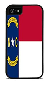 North Carolina State Flag Black 2-in-1 Protective Case with Silicone Insert for Apple iPhone 5 / 5S