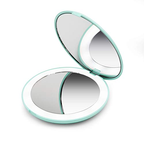 Lighted mirror magnified