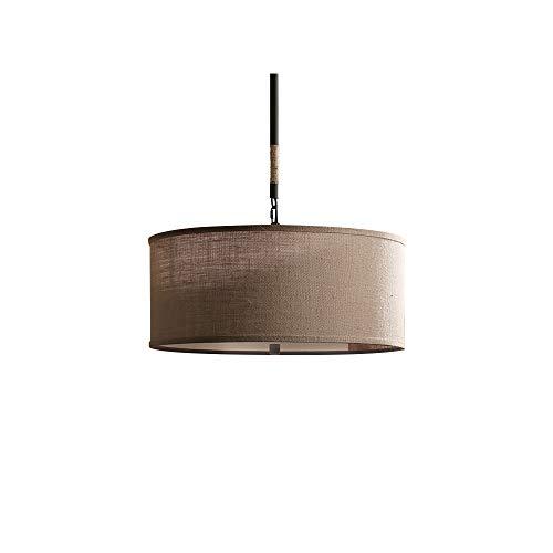 Countryside 3 Light Chandelier - Glanzlight,GL-62995,Linen Round Pendant Lamp,American Countryside Hemp Rope Chandelier,Iron and Linen,5-Light