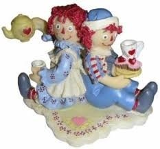 Raggedy Ann and Andy Tea Time Figurine