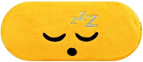 YANGDJ Estuche de lapices Bolso Lindo del Lápiz del Bolso del Emoji del Estudiante De La Caja De Lápiz De La Historieta De La Expresión Bolso del Lápiz del Amarillo De Los