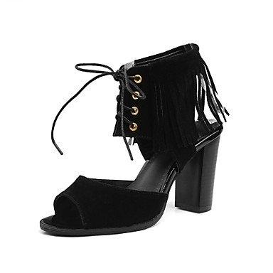verano nbsp;noche zapatos tacón Red amp; grueso bodas de gladiador de LvYuan de la tobillo primavera los otoño lana de sandalias del club fiesta correa 0St1RwAq