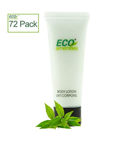 ECO AMENITIES Transparent Tube Flip Cap Individually Wrapped 30ml Body Lotion, 72 Tubes per Case -