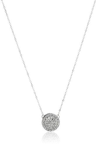 10k White Gold Diamond Cluster