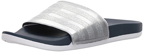 adidas Women's Adilette CF+ Explorer W Slide Sandal, Collegiate Navy/Collegiate Navy/White, 8 M US