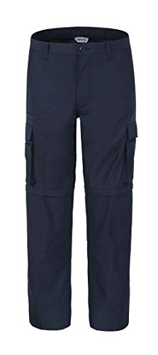 "Bienzoe Men's Outdoor Quick Dry Waterproof Convertible Cargo Pants, Navy 38""*32"" from Bienzoe"