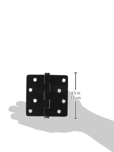 Deltana DSB4R415A-RZ Zig Zag Solid Brass 4-Inch x 4-Inch x 1//4-Inch Radius Hinge
