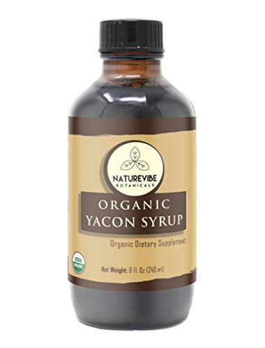 (Naturevibe Botanicals Organic Yacon Syrup (8oz) | Non GMO and Gluten Free | Natural Sweetener | Supports Digestion and Boost Immunity.)