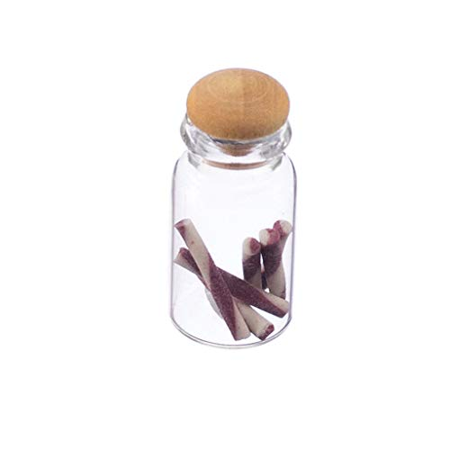 (Brosco Dolls House Miniature Food Accessory Tiny Jar of Candy Sticks 1/12th Scale)