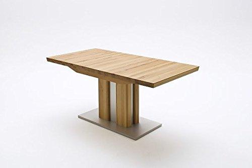 Esstisch, Massivholztisch, Säulentisch, Kernbuche, ausziehbar, L= 160-210