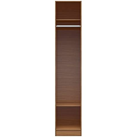 Manhattan Comfort Chelsea Long Hanging Closet Collection Stand Alone Wardrobe Cabinet With Hanging Rod And 2 Storage Shelves 17 71 W X 21 25 D X 90 55 H Maple Cream