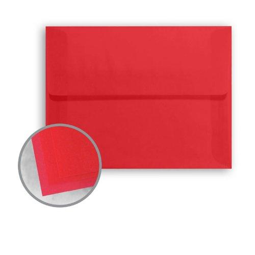 Glama Natural Red Envelopes - A7 (5 1/4 x 7 1/4) 27 lb Bond Translucent Vellum 250 per Box ()