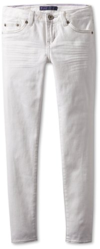 Levi's Girls' 710 Super Skinny Jean, White, 7
