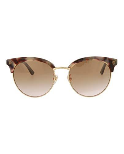 GUCCI GG0222SK Bronze Brown Havana Wild Cat Stud Sunglasses 0222 004