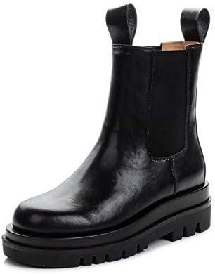 SHIQI-DYMX Martin boots female knight autumn and winter Chelsea smoke boots short tube platform women's shoes