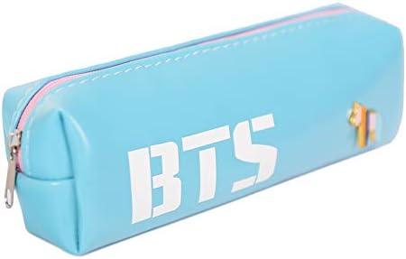 Estuche para lápices BANGTAN BOYS BTS, con cierre de cremallera, ideal para cosméticos, lápices, papelería, entre otros, color azul: Amazon.es: Oficina y papelería