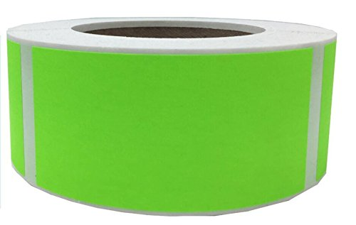 Labels Well (Tile & Sticker Fluorescent Green Color Coding Labels 2 x 3