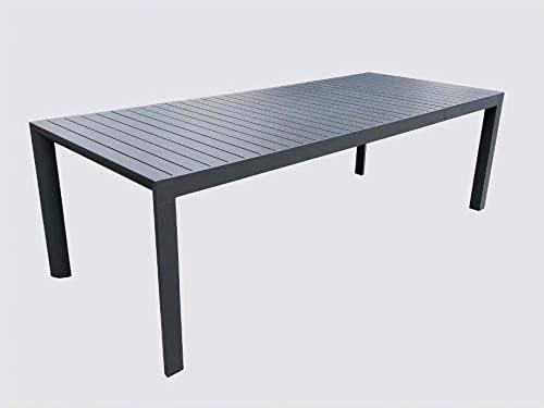 Tavoli Da Giardino Prezzi Bassi.Tavolo Da Giardino Allungabile In Alluminio Colore Antracite