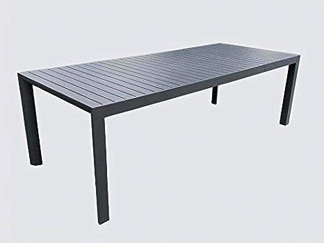 Tavolo da Giardino Allungabile in Alluminio Colore Antracite ...