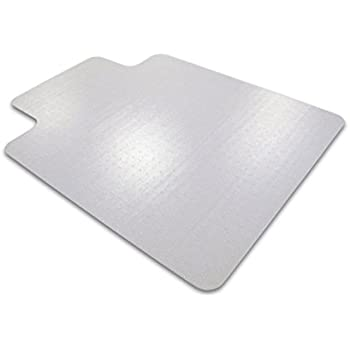 """Floortex Ultimat Polycarbonate Chair Mat for Carpets to 1/2"""", 35""""x47"""", Rectangular w/ Lip, Clear (AFCRLM35047)"""