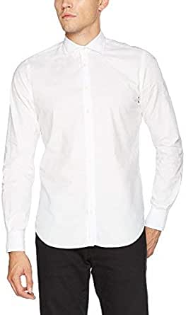 Scalpers Fancy, Camisa Casual Para Hombre, Blanco (White 2 ...