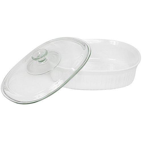 CorningWare 2-1/2-Quart Oval Casserole Dish with Glass Lid by CorningWare