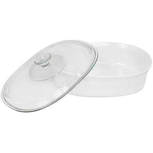 CorningWare 2-1/2-Quart Oval Casserole Dish with Glass Lid by CorningWare